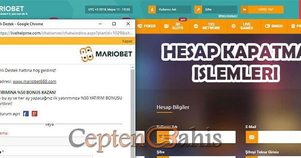 Mariobet Hesap Kapatma