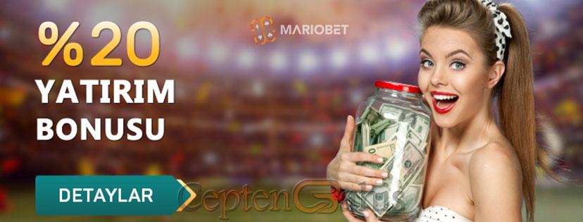 Mariobet Yüzde 20 Yatırım Bonusu