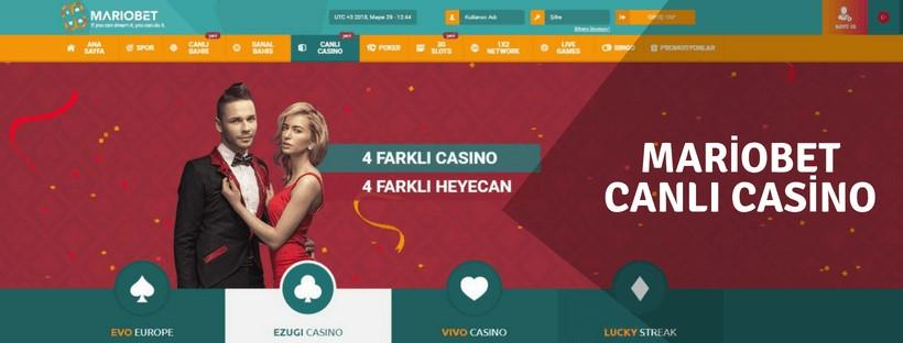 Mariobet Canlı Casino ve Casino Oyunları