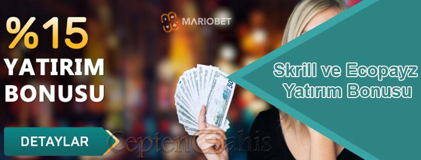 Mariobet Skrill ve Havale Eft Yatırım Bonusu